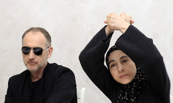 Anzor Tsarnaev and Zubeidat Tsarnaeva, parents of two men suspected of carrying out the Boston bombings, take part in a news conference in Makhachkala