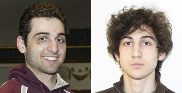Tamerlan Tsarnaev and Dzhokhar Tsarnaev are pictured in this combination photo