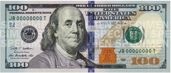 new us 100 dollar bill