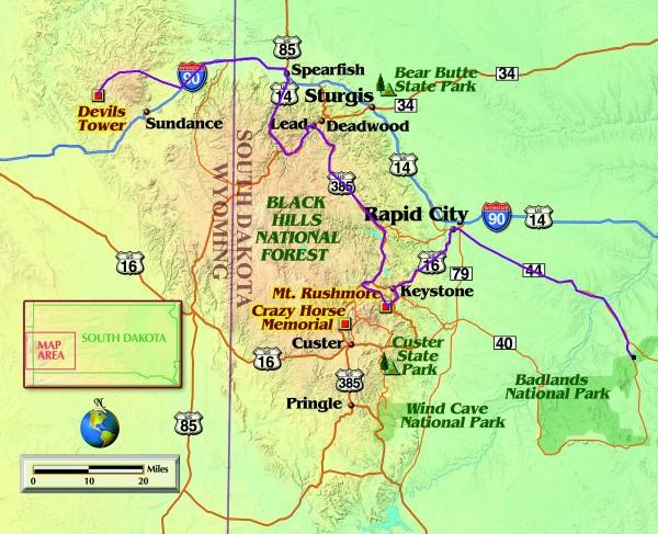 south-dakota-black-hills-map