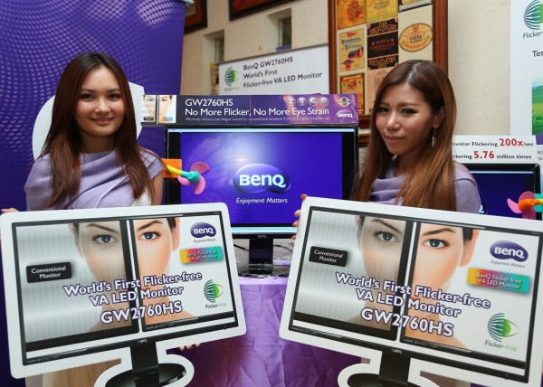 BenQ Brand Ambassadors with the world's first flicker-free LED monitor from BenQ