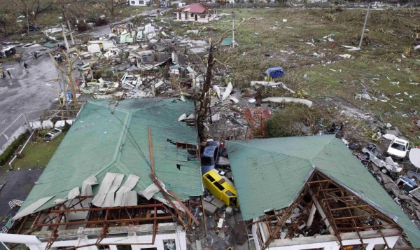 A damaged airport is seen after super Typhoon Haiyan battered Tacloban city