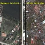 Thành phố Tacloban trước và sau siêu bão Haiyan
