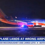 Máy bay đáp lộn sân bay