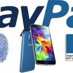 Thanh toán qua PayPal với dấu vân tay