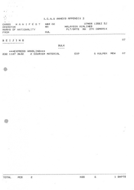 MH370 cargo manifest-01