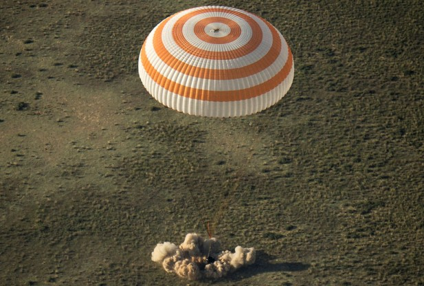 The Expedition 39=land-kazakhstan-140513