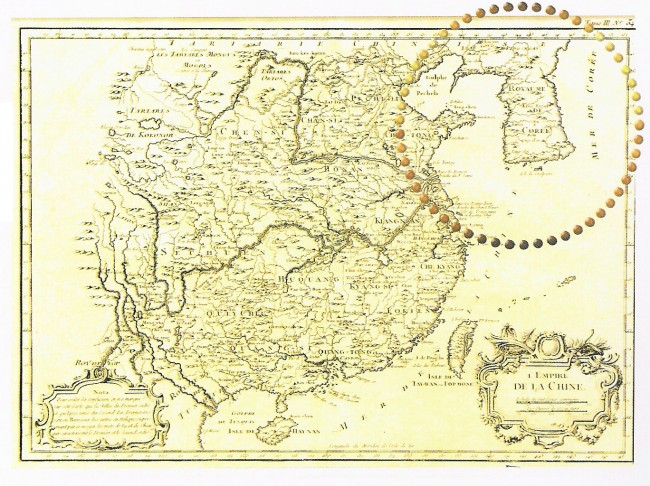 Map of China, 1764 by N. Bellin, France, source EAST SEA in old western maps