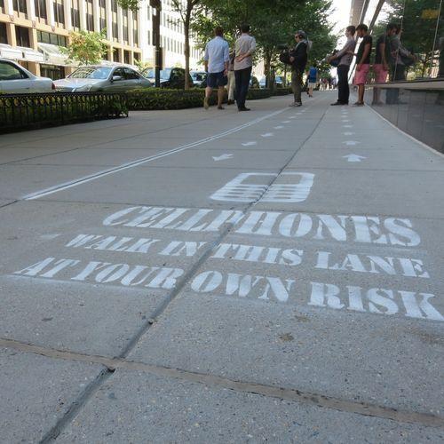 cellphone-sidewalk-lane