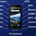 Có bao nhiêu cảm biến trên một chiếc smartphone?