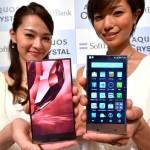 Smartphone Aquos Crystal không có đường viền màn hình
