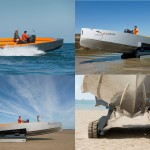 Chiếc canô sang trọng vừa chạy dưới nước, vừa chạy trên bờ