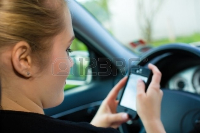 text-message-in-car