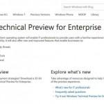 Phiên bản Technical Preview của Windows 9 có tên là Windows TH