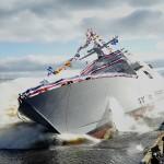 Cú hạ thủy tàu chiến Mỹ thiệt là ấn tượng