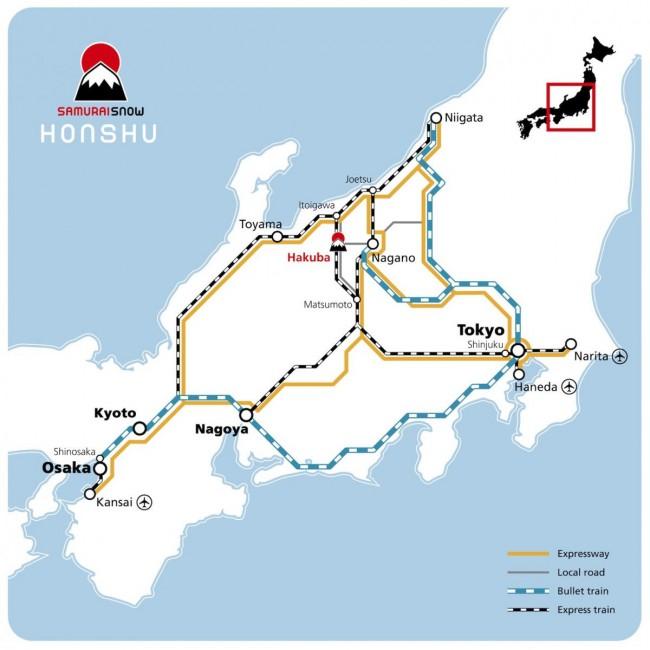 Japan rails map