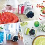 Bộ sưu tập máy ảnh PENTAX K-S1 Sweets Collection màu mè hoa lá cành