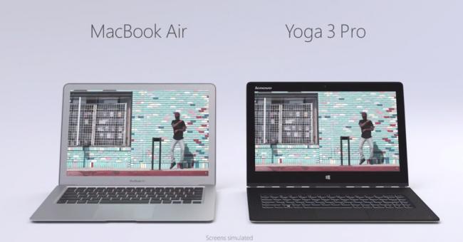 Lenovo Yoga 3 Pro vs MacBook Air-01