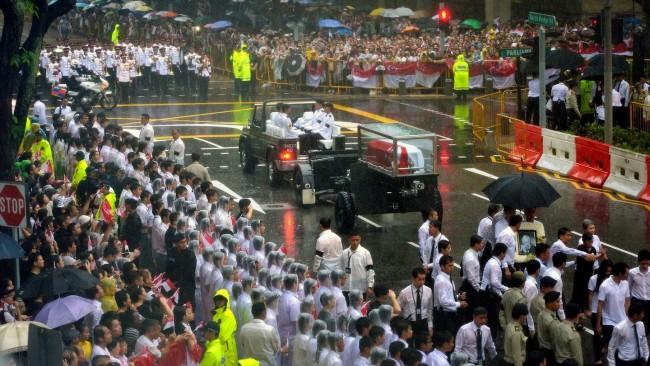 State funeral for Singapore's founding Prime Minister Lee Kuan Yew