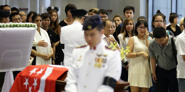Singapore Begins Public Mourning Of Founding Prime Minister Mr Lee Kuan Yew