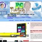 Giao diện mới của trang phphuoc.com