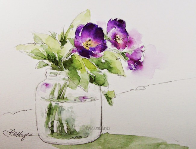 PurpleFlowers- RoseAnn Hayes