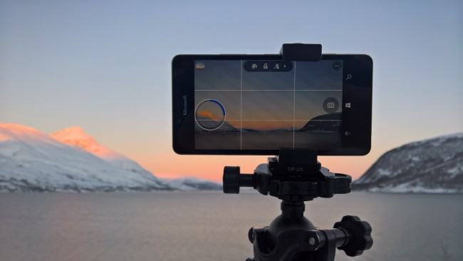 A lumia 950 shoots time lapse images in Norway.