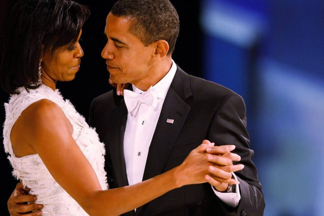 WASHINGTON - JANUARY 20:  (AFP OUT) US President Barack Obama dances with his wife and First Lady Michelle Obama during the Western Inaugural Ball on January 20, 2009 in Washington, DC. President Barack Obama was sworn in as the 44th President of the United States today, becoming the first African-American to be elected President of the US.  (Photo by Chip Somodevilla/Getty Images)