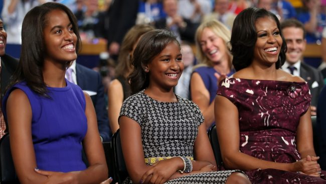 during the final day of the Democratic National Convention at Time Warner Cable Arena on September 6, 2012 in Charlotte, North Carolina. The DNC, which concludes today, nominated U.S. President Barack Obama as the Democratic presidential candidate.