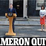 Thủ tướng Anh David Cameron tuyên bố từ chức sau khi cử tri Anh quyết định ra khỏi EU