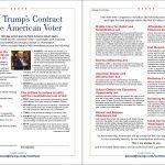 Tỷ phú Trump ký hợp đồng với cử tri