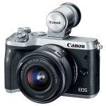 Máy ảnh Canon EOS M6 với chip lấy nét Dual Pixel CMOS AF và cảm biến APS-C lớn