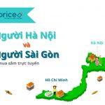 Thói quen mua sắm online của người Hà Nội và người Sài Gòn