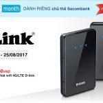 Chủ thẻ Sacombank được giảm giá khi mua thiết bị mạng D-Link