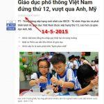 Giáo dục Việt Nam tốt vô cùng cực