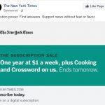 New York Times, chỉ 1 USD là đọc báo cả tuần