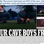 Ngày đầu tiên giải cứu được 4 em cầu thủ nhí Thái Lan khỏi hang sâu