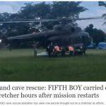Cậu bé thứ 5 của đội bóng nhí Thái Lan đã được giải cứu