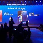 Giá chính thức Samsung Galaxy Note9 ở Việt Nam