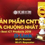 D-Link được trao 2 giải thưởng Best Cup 2018 cho Wi-Fi Router và Wi-Fi Repeater