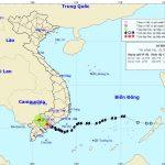 Tin cuối cùng của Trung tâm Dự báo Khí tượng Thủy văn về cơn bão số 9 Usagi