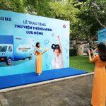 Samsung và Thư viện Khoa học Tổng hợp TP.HCM ra mắt xe Thư viện thông minh lưu động