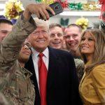 Ông bà chủ Nhà Trắng bất ngờ tới căn cứ Mỹ ở Iraq