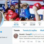 Tweet đầu tiên của Tổng thống Donald Trump ở Việt Nam