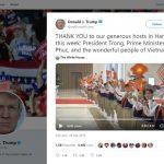 Tổng thống Donald Trump tweet cảm ơn Việt Nam
