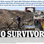 Không ai sống sót trên chuyến bay ET302 của hãng Ethiopian Airlines chở 157 người lâm nạn ngày 10-3-2019