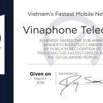 VinaPhone nhận giải thưởng Speedtest nhà mạng di động nhanh nhất ở Việt Nam