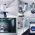 Máy giặt Samsung với 150 bài test kiểm tra trước khi sản xuất