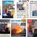 """Nhà thờ Đức Bà Paris """"cháy"""" trên trang nhất báo chí thế giới"""