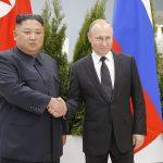 VIDEO: Cuộc gặp thượng đỉnh đầu tiên giữa Tổng thống Nga Vladimir Putin và Chủ tịch Bắc Triều Tiên Kim Jong-un tại Nga